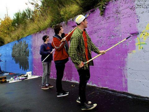 South Dunedin community art project Photo: paulusthebrit on Flickr CC BY-NC-ND 2.0